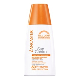 Lancaster ANTI-WRINKLE & DARK SPOTS SUN SENSITIVE SKIN RADIANT GLOW FLUID SPF 50